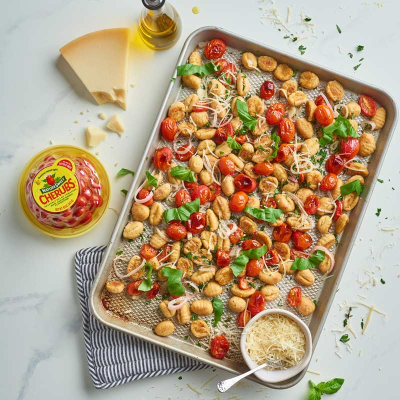 Easy Sheet Pan Cauliflower Gnocchi and Blistered Tomatoes